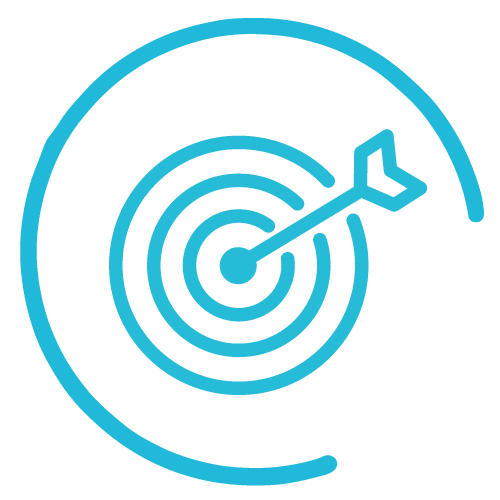 targeted audience icon blue