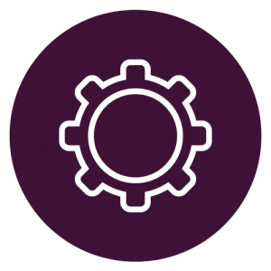 industry virtual roundtable icon purple cog