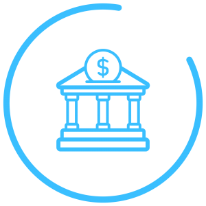 finance banking icon blue