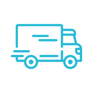 transportation logistics icon blue