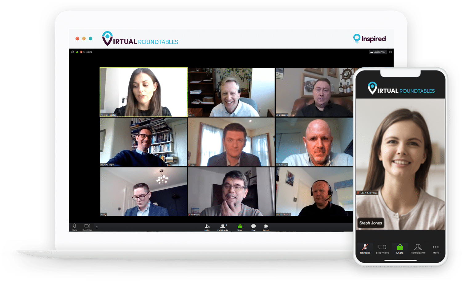 video conference example virtual roundtable